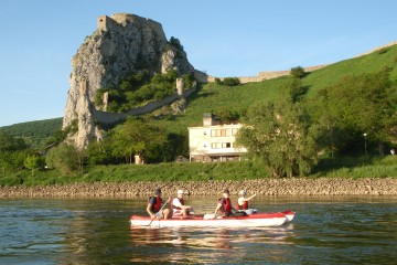 Beautiful paddling trip on Danube river